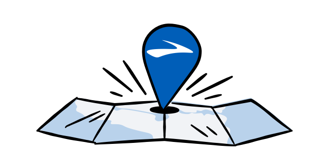 An illustrated map
