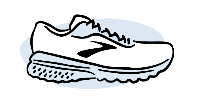 An illustrated Brooks shoe