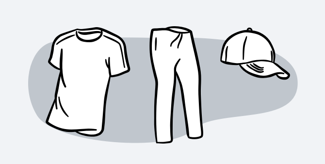 Illustrated clothes