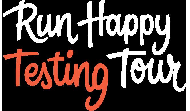 Run happy testing tour logo