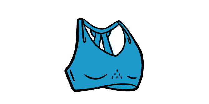 Illustration of a run bra