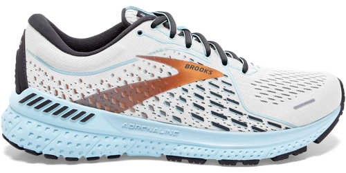 Two Brooks Adrenaline GTS 21 shoes