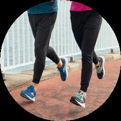 Deux jambes de runner