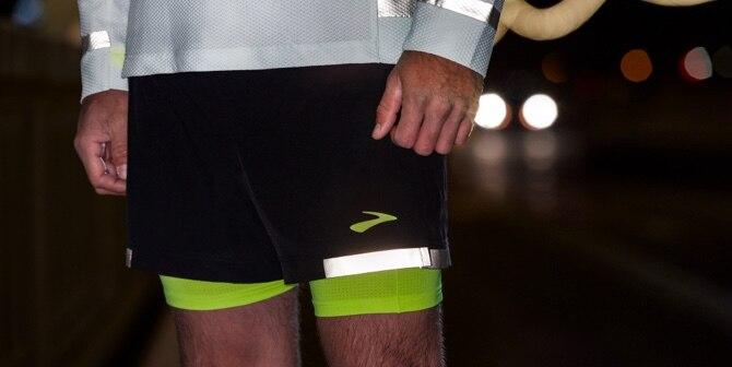 Men wearing run visible apparel