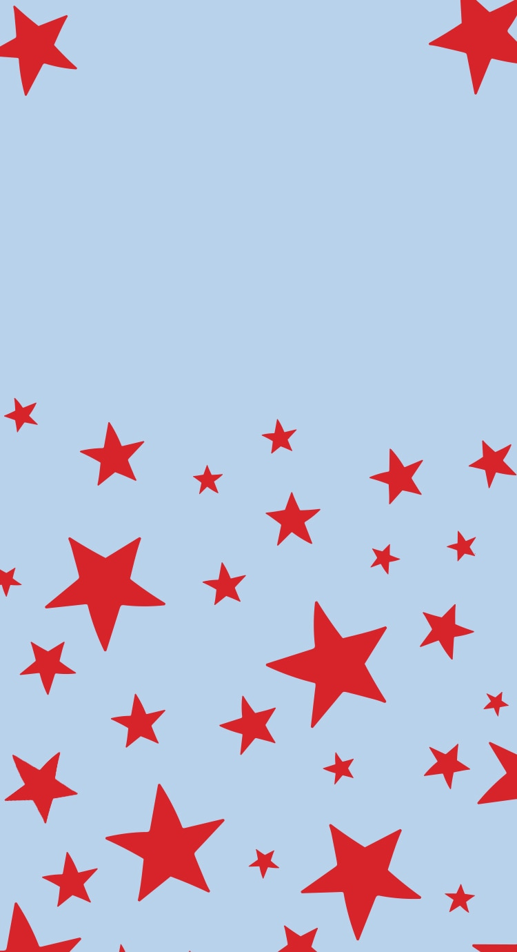 Light blue background with red stars
