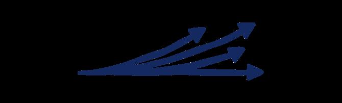 Illustration of 3 arrows