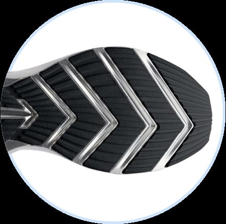 Banda de rodadura en la parte inferior de una zapatilla Brooks