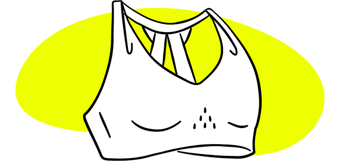 Illustrazione di un reggiseno
