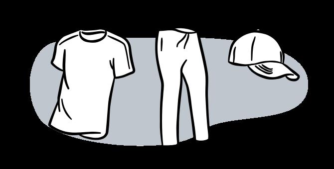 running apparel cartoon