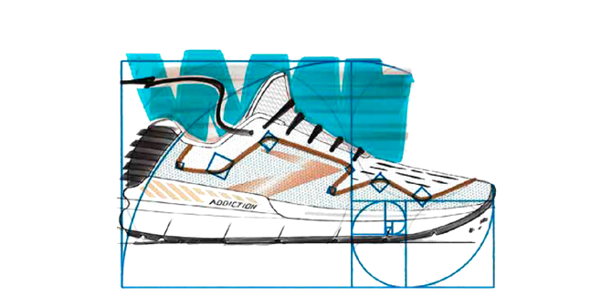 An illustrated shoe
