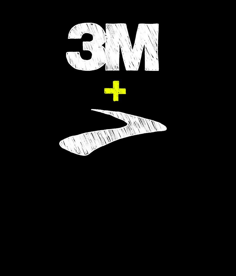 Illustration of 3M and Brooks logos together.