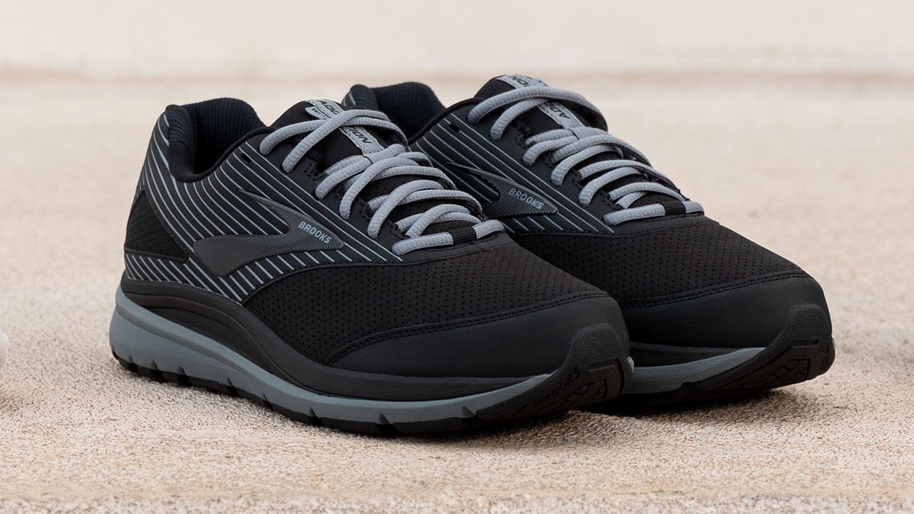 A close up on a pair of the Addiction Walker Suede in black