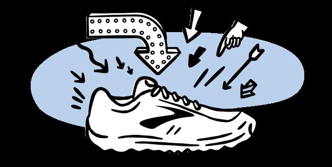 Illustrated Brooks shoe