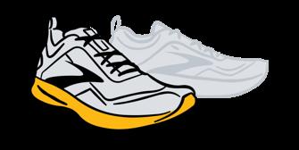 Sketch of a Brooks shoe