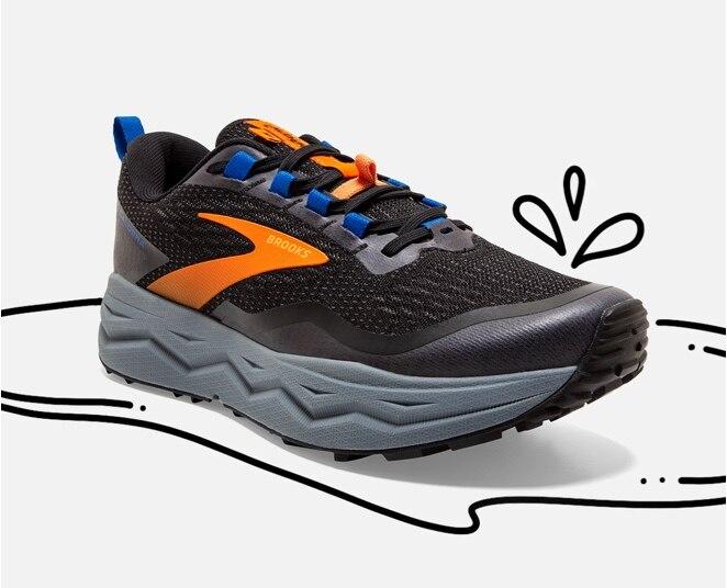 A Brooks trail shoe