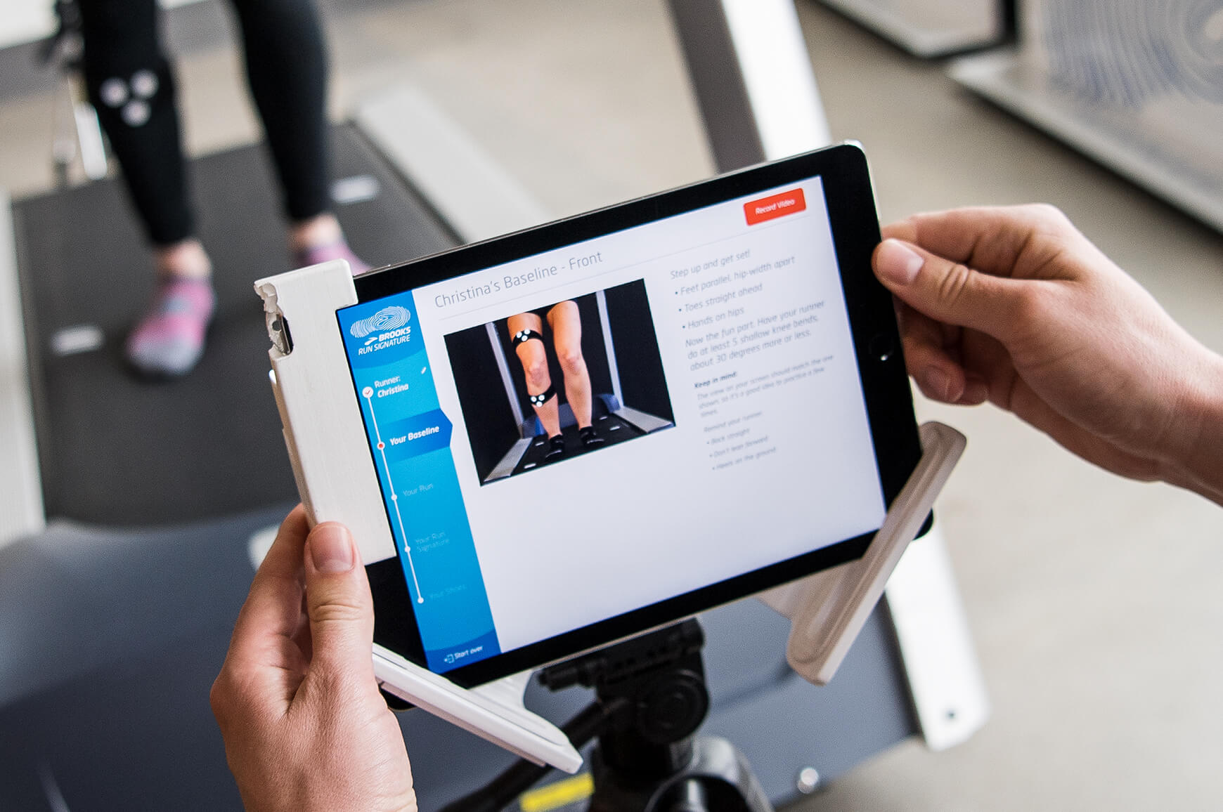 A close up of the Run Signature technology on a tablet