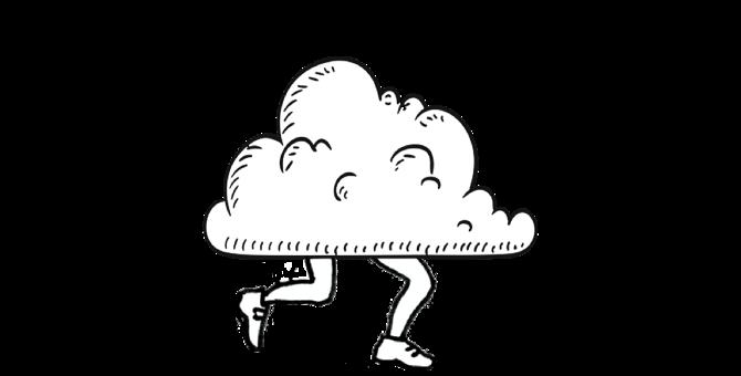 running cloud cartoon