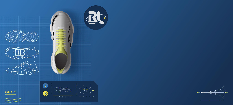 BlueLine shoe with tech elements