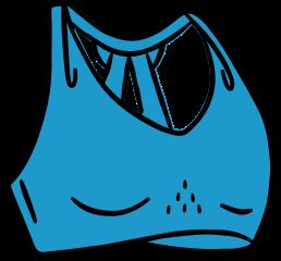 Boceto de un sujetador